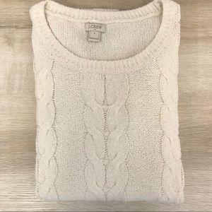 J. Crew Cream Sweater - Excellent Condition!